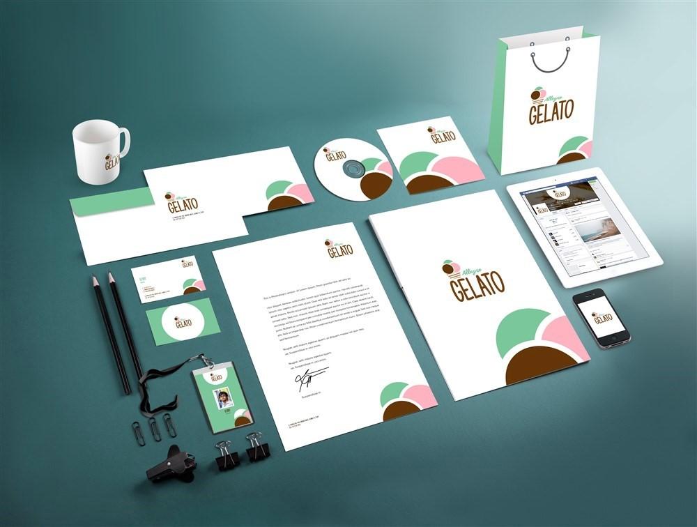 Branding Kedai Es Krim Gelato - Kilaro