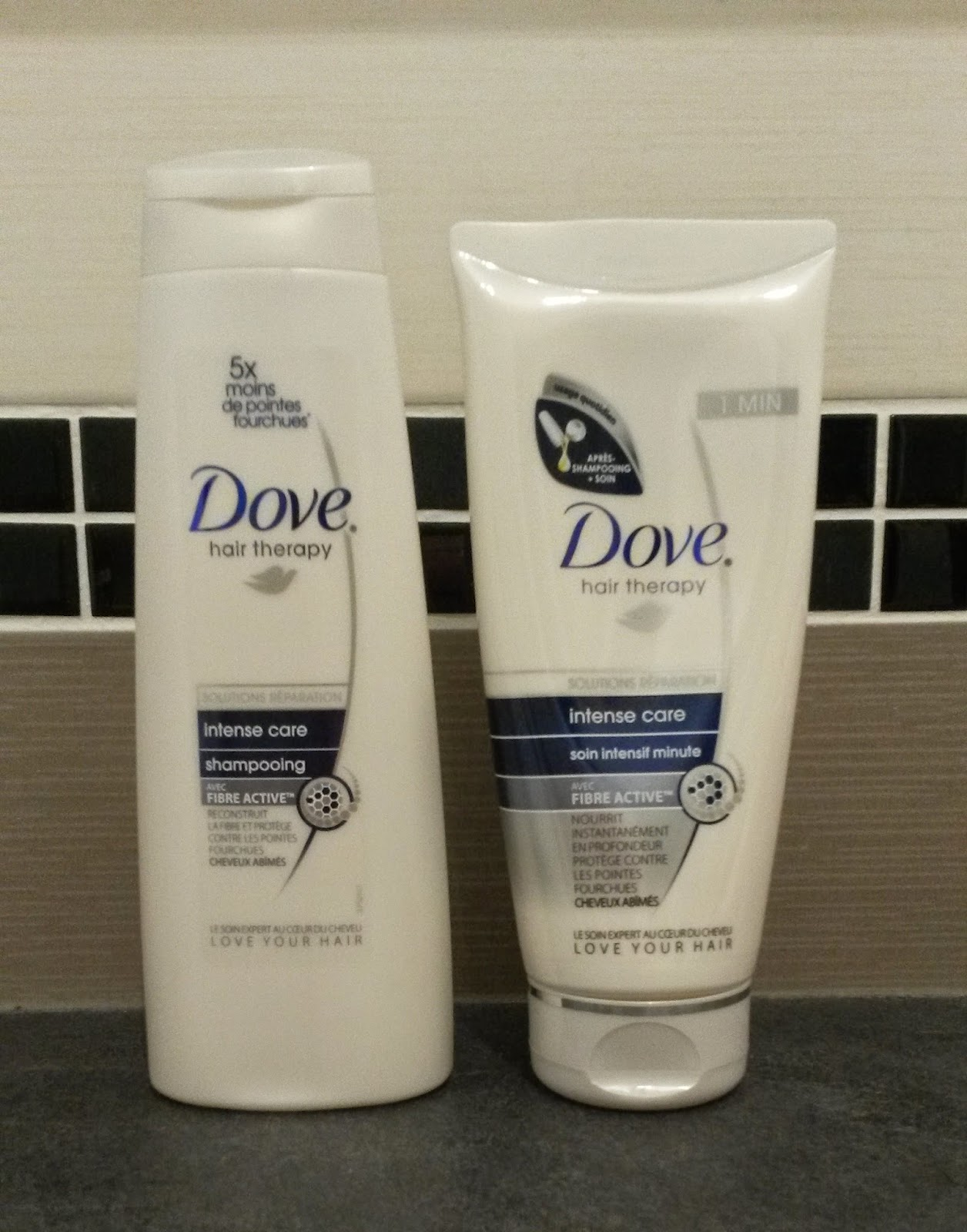 Gamme Intense care Dove shampoing et soin