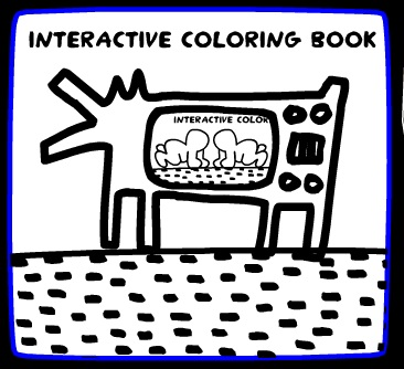Keith Haring Interactive Coloring Book | Coloring Page