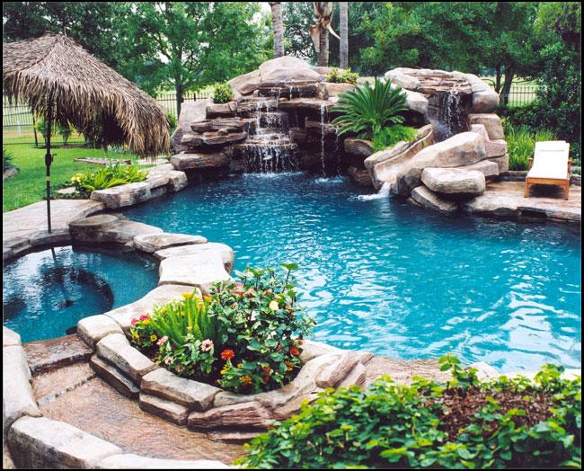 Backyard Paradise: 1000+ Images About Gunite Slide & Grotto On Pinterest