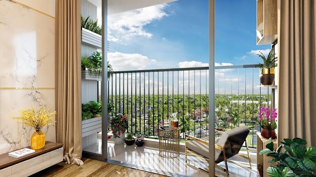 Các căn hộ Eco Green Sài Gòn quận 7 có view nhìn cảnh quan và gần gũi thiê nhiên.