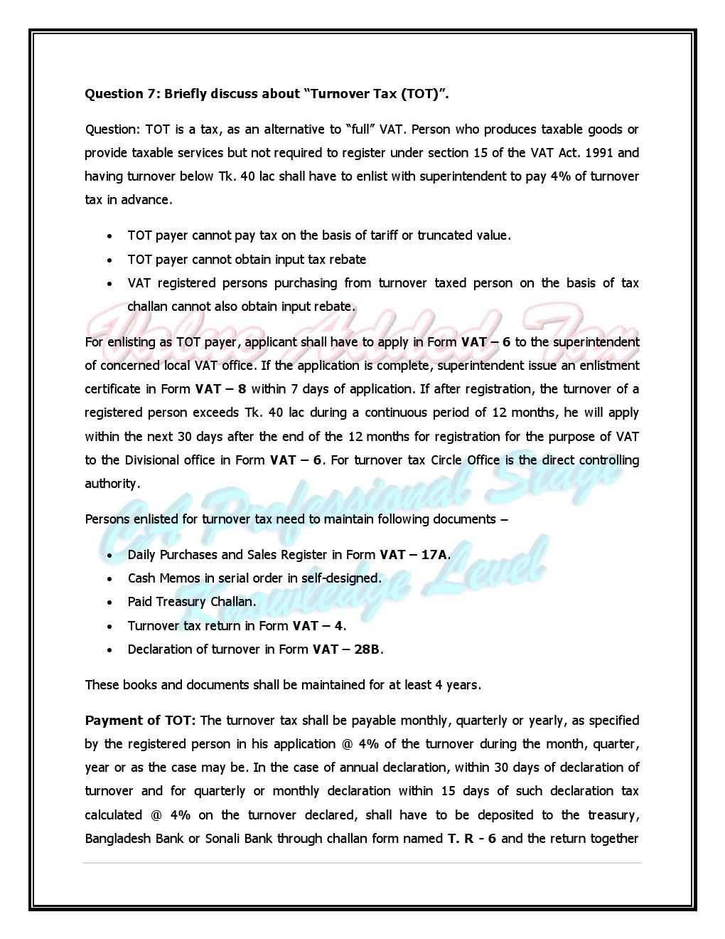 Tax bd 2015: Vat -Nikhil Chandra Shil & Baree Sir