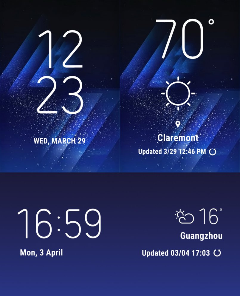 How to Get Samsung Galaxy S8 Weather & Clock Widget for any