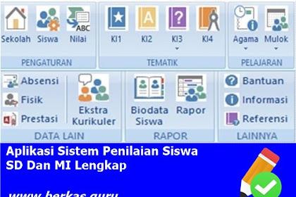 Aplikasi Sistem Penilaian Siswa SD Dan MI Lengkap