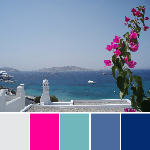 Greek Island Backyard Color Palette