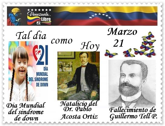 TAL DIA COMO HOY 21 DE MARZO
