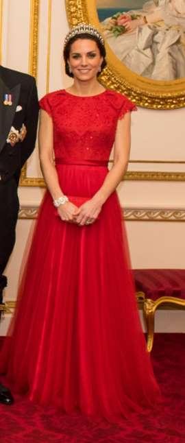 Kate Middleton Dazzles at Diplomatic Reception in Princess Diana's Favorite Tiara -- See the Pics!
