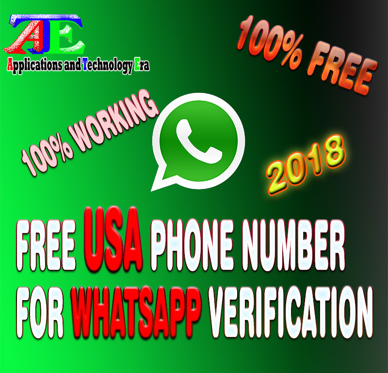Free US Number for WhatsApp Verification 2019 100% working | AppTechEra