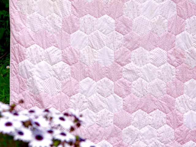 Pink Hexagon Quilt