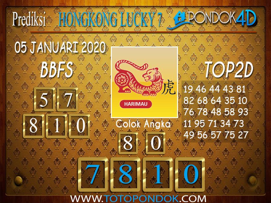 Prediksi Togel HONGKONG LUCKY7 PONDOK4D 04 JANUARI 2020