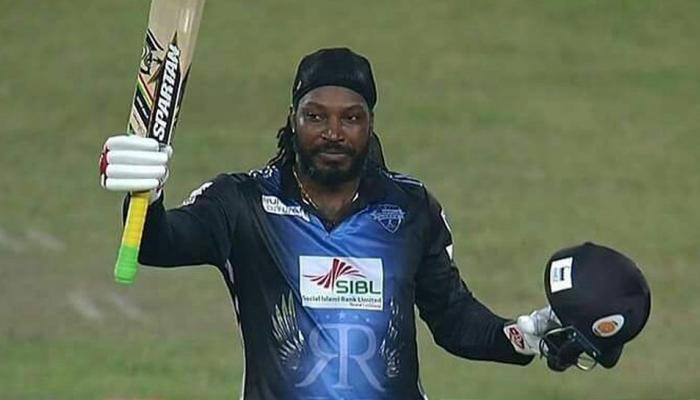 800 சிக்சர்கள் விளாசி அதிரடி மன்னன் கெயில் உலக சாதனை Chris Gayle's brutal 51-ball 126* for Rangpur Riders against Khulna Titans
