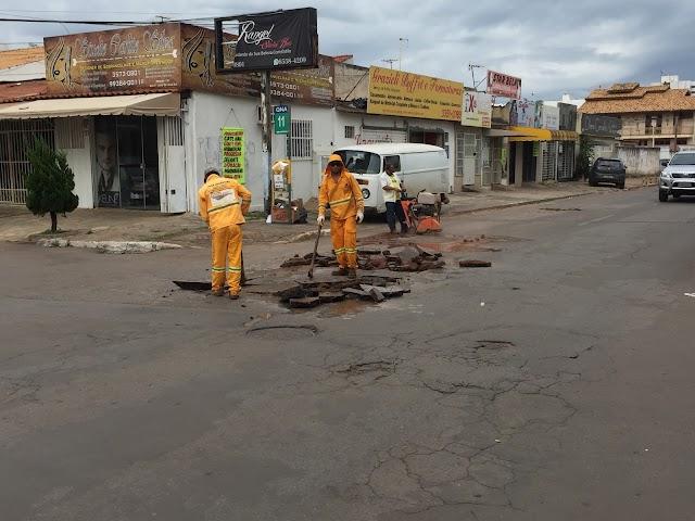 30% do asfalto de Taguatinga precisa de recapeamento