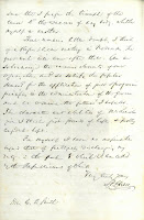 First page of letter from Chase to Smith