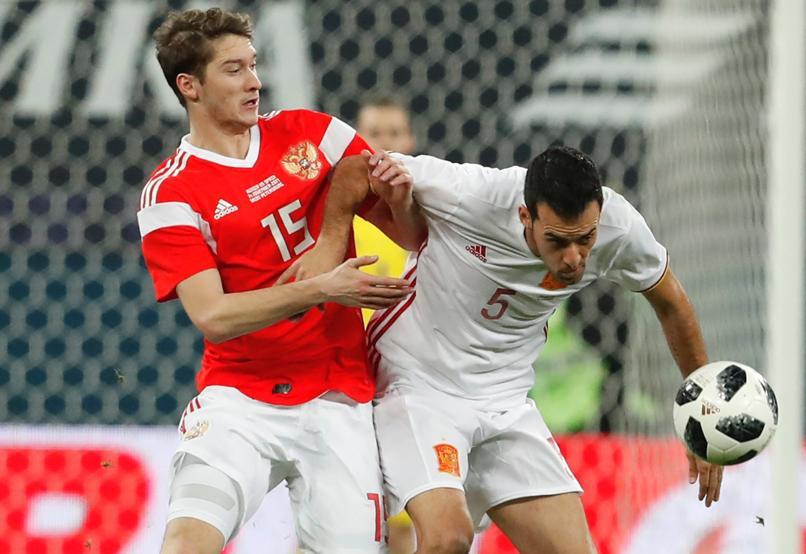 Afbeeldingsresultaat voor russia spain football