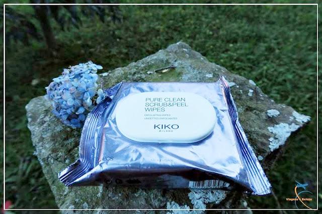 Lenços dois em um Pure Clean Scrub & Peel, da Kiko Milani