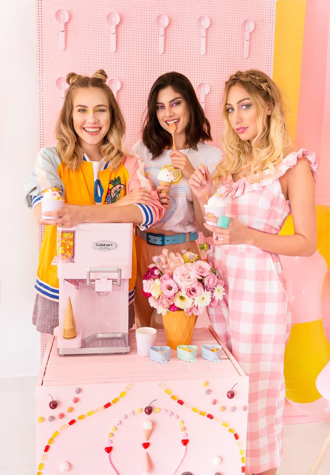 maquina sorvete rosa cuisinart