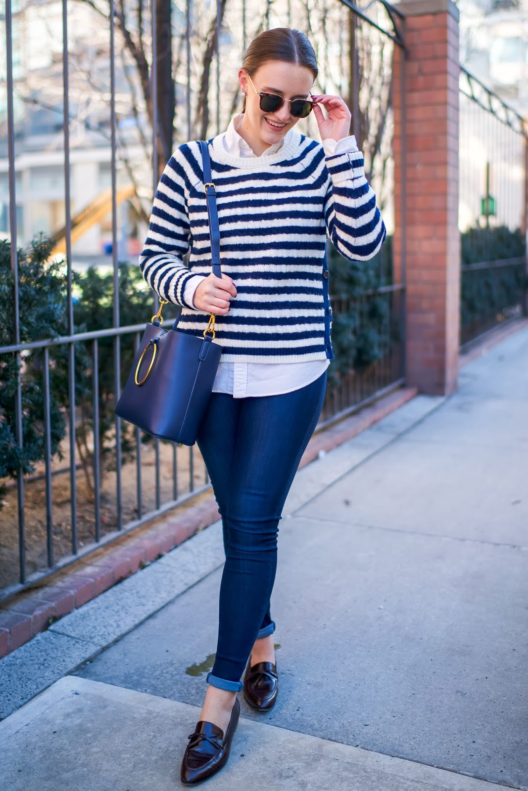 Casual Work to Weekend Look by popular New York fashion blogger Covering the Bases