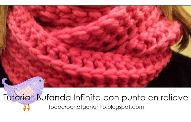 Aprende a tejer una Bufanda infinita al crochet / Tutorial | Todo ...