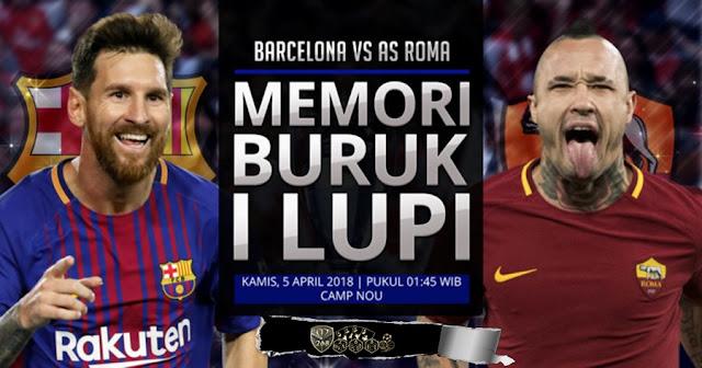 Prediksi Barcelona Vs AS Roma, Kamis 05 April 2018 Pukul 01.45 WIB @ SCTV