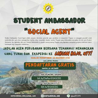 Student Ambassador Labuan Bajo 2018 Empowering Indonesia