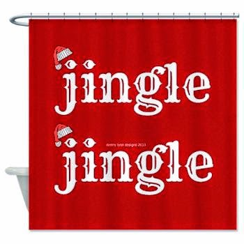 Santa Jingle Shower Curtain