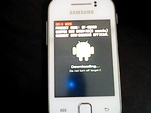 Odin, Samsung Galaxy Young, Flashing via Odin