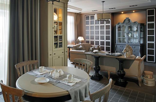 Классический интерьер квартиры в Москве с элементами аристократичной эклектики