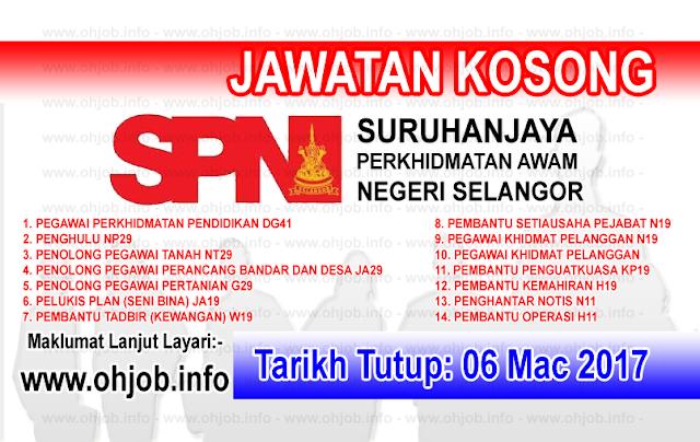 Jawatan Kerja Kosong Suruhanjaya Perkhidmatan Awam Negeri Selangor logo www.ohjob.info mac 2017