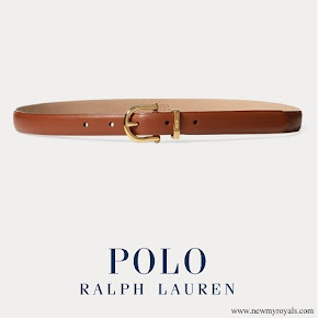 Meghan Markle wore POLO RALPH LAUREN Nappa Leather Skinny Belt