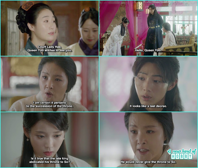 queen yoo and 14th prince called hae soo and ask abot the king yoo death  - Moon Lovers Scarlet Heart Ryeo - Episode 17 (Eng Sub)