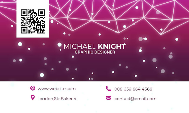 Free Download PSD Modern Tech Business Card.