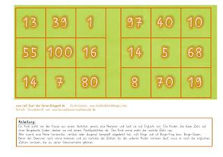 reif f r die ferien englisch bingo zum thema numbers. Black Bedroom Furniture Sets. Home Design Ideas
