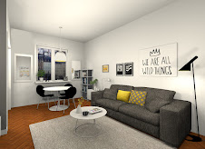 3D petit appartement style scandinave