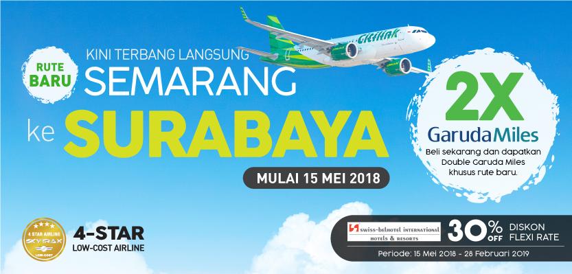 Citilink Rute Baru Semarang Ke Surabaya 2x Garuda Miles S D 28 Feb 2019 Promosi247 Promosi Katalog Dan Diskon Tokopedia Superindo Indomaret Giant Ovo Gopay Dll