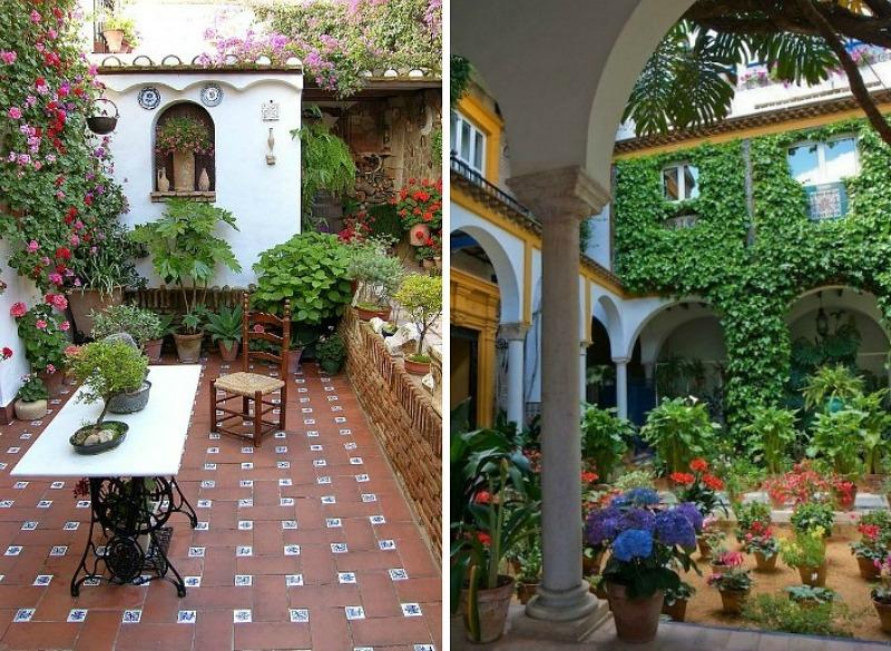 Patio de estilo espaol Spanish patio - Guia de jardin