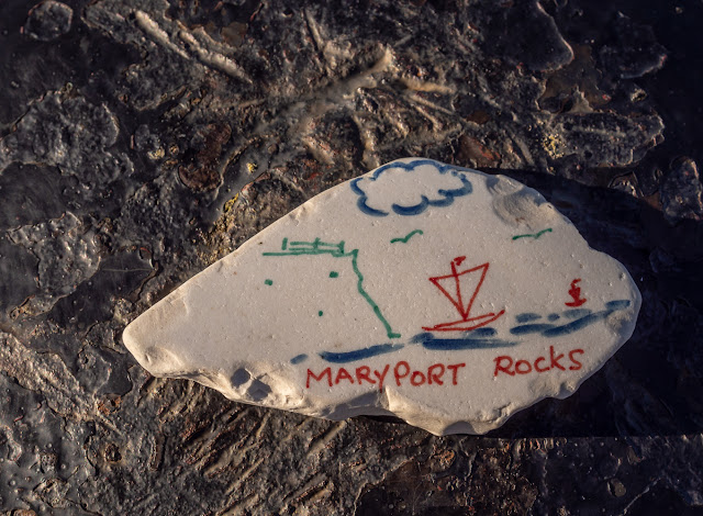 Photo of the rock that led to me joining the Maryport Rocks Cumbria Facebook group