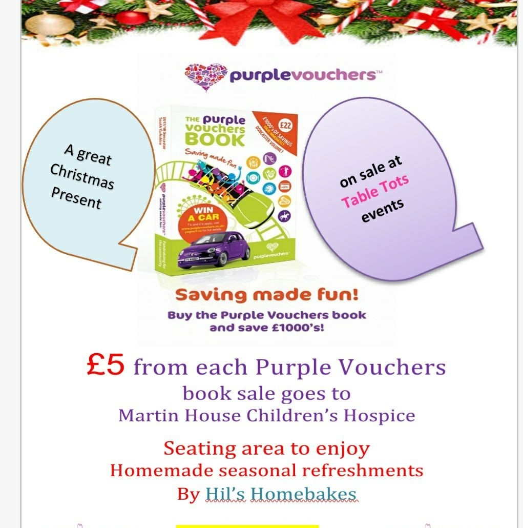 Guest Blog - save thousands £s with the Purple Vouchers book - Table ...