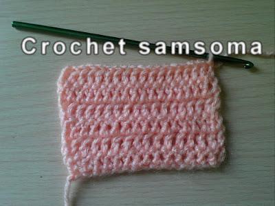 الدرس السادس ;طريقة عمل غرزة العمود بلفة واحدة- غرزة البريد double crochet - تعليم الكروشيه للمبتدئين .