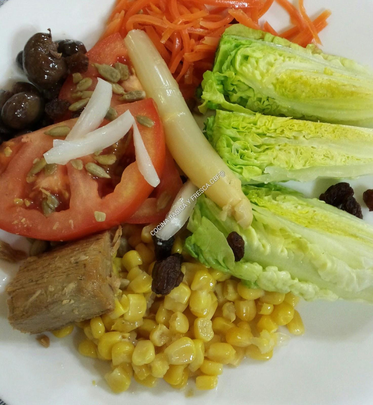 Cocina casera y rapida ensalada de cogollos con semillas cbf - Cocina casera facil y rapida ...