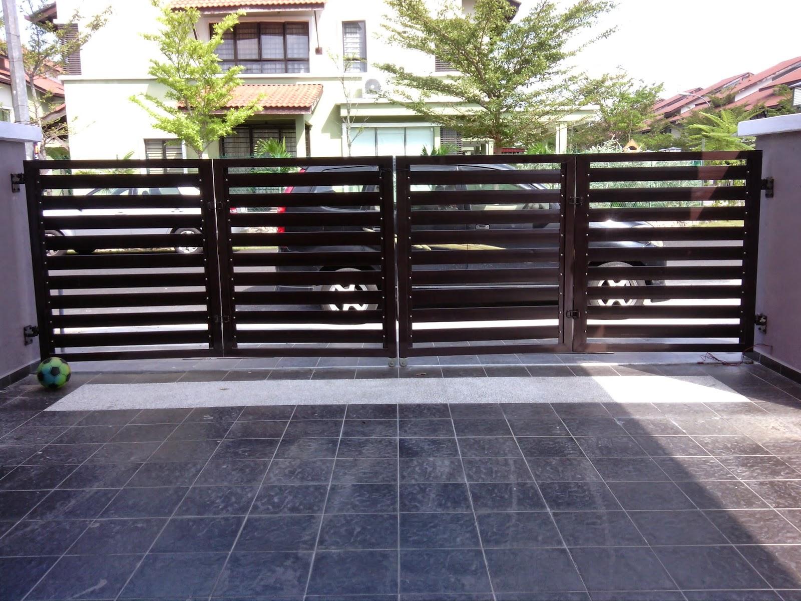 Kali Ini Saya Paparkan Projek Menasang Pintu Gate Alumunium Dan Set Grill Rumah Di Kediaman Puan Zaiton Memilih Frame Besi Biasa