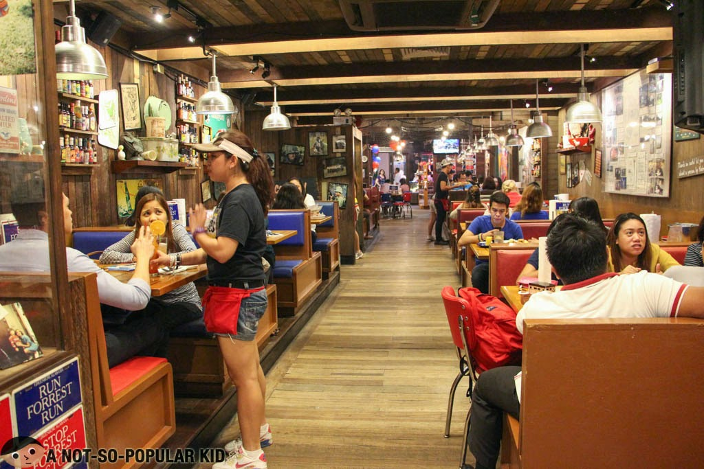 Part of the huge interior of Bubba Gump Restaurant in Greenbelt