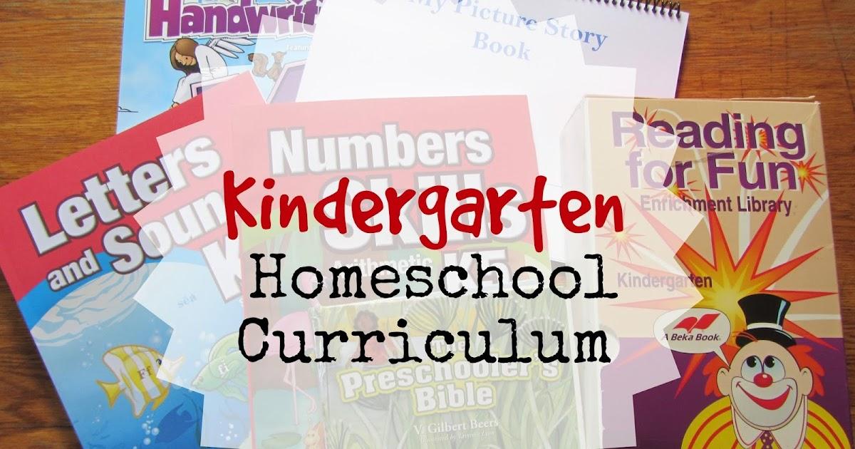 K 5 - Homeschool Curriculum Kindergarten