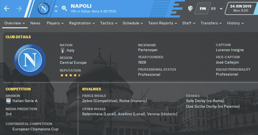 FM20 Team Guide & Tactic - SSC Napoli