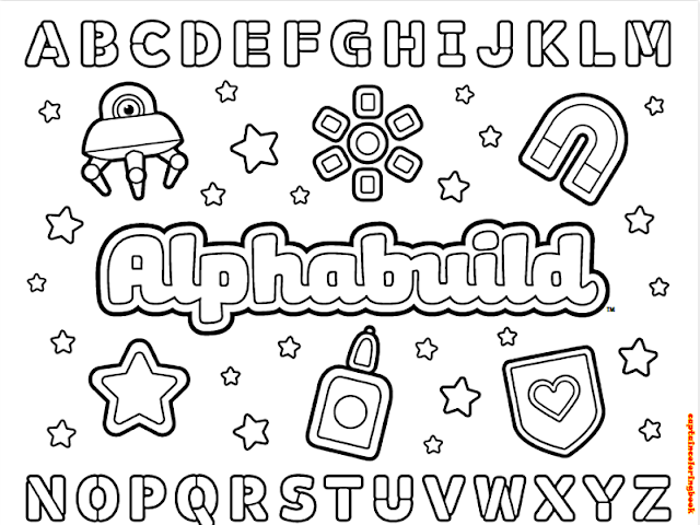 Alphabet Coloring and Learning page