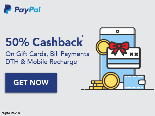 Haptik Paypal Offer – Get 50% Cashback on Gift Cards, Recharge and