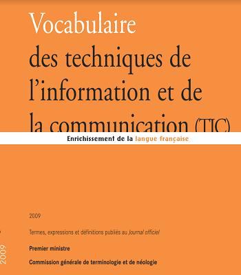 Vocabulaire des techniques de l'information et de la communication TIC PDF
