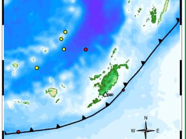 39 Gempa di Tanimbar Selama Oktober 2019