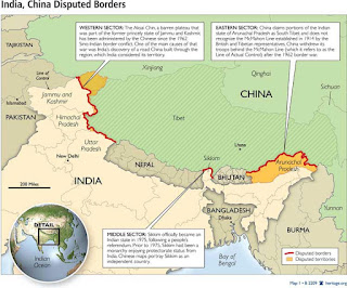 india china borders