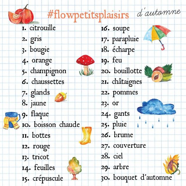 Nouveau challenge photo de Flow Magazine France pour le mois de novembre 2016 #flowpetitsplaisirs