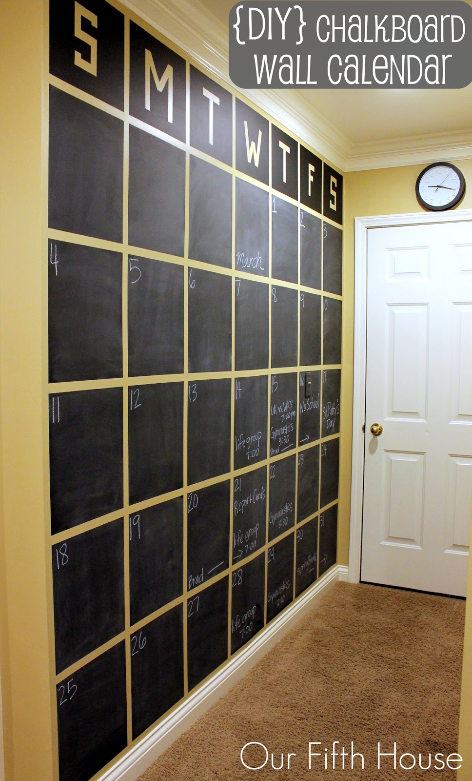 Diy Chalkboard Wall Calendar Pinterest Challenge Our